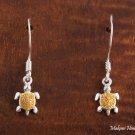 SE22605 Turtle Hook Earrings(S) Two Tone
