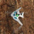 SOP1041 4 Opal CZ Fish Pendant