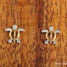 SE23705 Honu Earrings (S) Two Tone