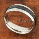 6mm Carbon Fiber Stainless Steel Classic Wedding Ring Oval SLR6008