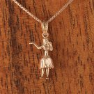 GP3123 Pink Gold Hula Girl Pendant(S)(Chain Sold Separately)