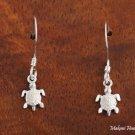 Hawaiian Jewelry Sterling Silver Turtle Hook Earrings(S) SE22601