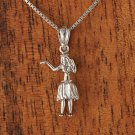 GP3121 White Gold Hula Girl Pendant(S)(Chain Sold Separately)