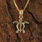 GP3161 Yellow Gold Honu(Hawaiian Turtle) Kid size Pendant(Chain Sold Separately)
