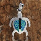 SOP1093 2 Opal Honu Pendant (XL)(Chain Sold Separately)