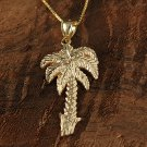 GP3104 Yellow Gold Palm Tree Pendant(L)(Chain Sold Separately)