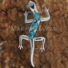 SOP1090 3 Opal Gecko Pendant (Chain Sold Separately)