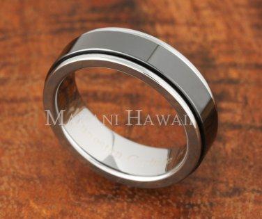 Tungsten BLK Ceramic Ring Flat TUR5051