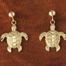 GE2104 Yellow Gold Bead-Turtle Post Earring
