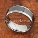 8mm Tungsten BLK Ceramic Polished Oval Mens Wedding Ring TUR5056