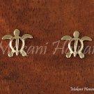 Small Honu(Hawaiian turtle) 14K Yellow Gold Post Earring GE2105