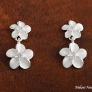 Plumeria with CZ Post Earrings