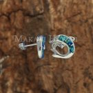 SOE101 3 Solid Sterling Silver Opal Dolphin Earrings