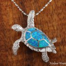 SOP1092 7 Opal Large Turtle Pendant(Chain Sold Separately)