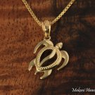 GP3168 Honu Pendant 14k Yellow Gold 12mm (Chain Sold Separately)