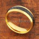 6mm Carbon Fiber Stainless Steel Wedding Ring Oval YG SLR6016