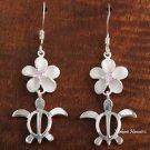 12mm Plumeria-Honu Hook Earrings