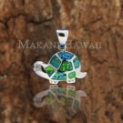 7 Opal Turtle Pendant