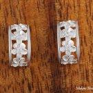 Half Moon White Plumeria Earrings