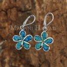Opal Plumeria Lever Back Earrings