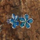 Hawaiian Plumeria Sterling Silver Opal Stud Earring