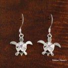 Plumeriain Honu Hook Earring Purple CZ