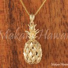 14K Yellow Gold Pineapple Pendant (L) Hawaiian Jewelry GP3114