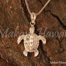 14K Pink Gold Sea Turtle (Honu) Pendant (S) Hawaiian Jewelry GP3159