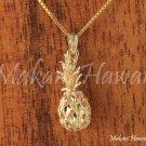 14K Yellow Gold Pineapple Pendant (M) Hawaiian Jewelry GP3116