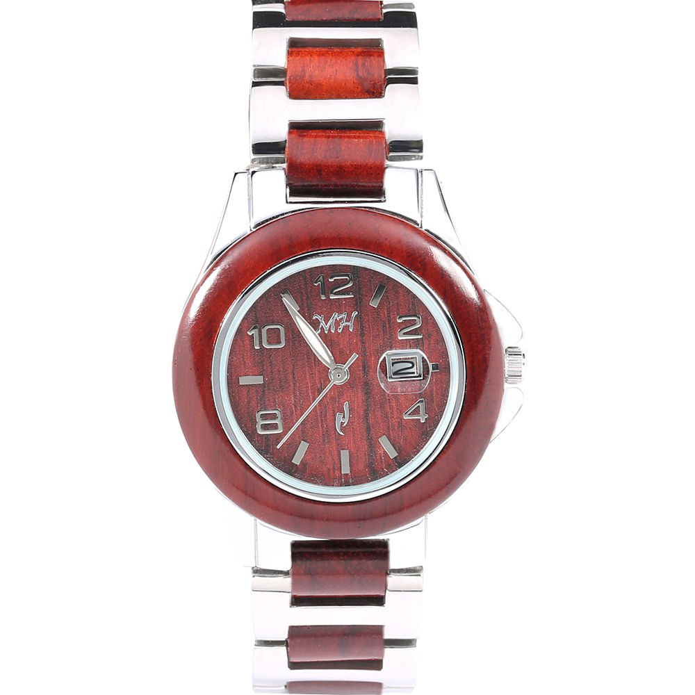 Women's Wooden Watch Rosewood Silver-Tone Classic Dial W9003LS1