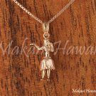 14K Pink Gold Hula Dancer Pendant (S) Hawaiian Jewelry GP3123