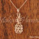 14K Pink Gold Pineapple Pendant (M) Hawaiian Jewelry GP3117