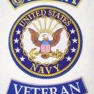 US NAVY PATCHES SET US NAVY VETERAN VET PATCHES FOR VEST JACKET VETERAN BLUE