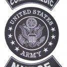 US ARMY PATCHES SET COMBAT MEDIC NURSE BACK PATCHES FOR VEST JACKET