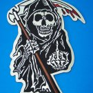 GRIM REAPER OUTLAW PATCH LARGE BACK PATCH FLIPPING HAND  FOR JACKET VEST