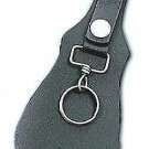Leather key holder for belt black New size 6.5 by 3