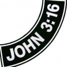JOHN 3:16 Patch Rocker For Christian Patches Vest jacket Bottom Side Rocker Blac