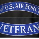 US Air Force Veteran Rockers Set Back patches For Jacket Vest Shirt New 2 Pieces