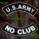 Military Patch Set U.S. Army No Club Embroidered Patches Sew on Patches for Jack