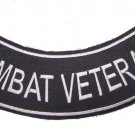 COMBAT VETERAN ROCKER PATCH BACK PATCH FOR VET BIKER MOTORCYCLE VEST JACKET