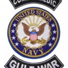 US NAVY PATCHES SET COMBAT MEDIC GULF WAR  PATCHES FOR VEST JACKET VETERAN