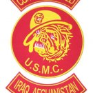 US MARINES CORPS MARINE BULL DOG IRAQ AFGHANISTAN PATCH SET COMBAT WOUNDED