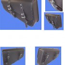 Motorcycle leather solo bag for harley sportster plain