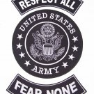 U.S. ARMY RESPECT ALL  FEAR NONE Patch Set