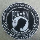 10 in.Round POW MIA  Bring 'em Home Leave No One Behind Patch
