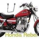 Motorcycle brackets pair honda rebel series models