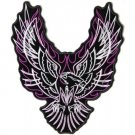 Tribal Eagle Purple White Patch 8x7 for Women's Ladies Biker vest Jacket