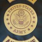 US ARMY AIRBORNE PATCHES SET COMBAT COLORS FOR BIKER MOTORCYCLE VEST JACKET