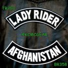 Military Biker Patch Set Lady Rider Afghanistan Embroidered Patches Sew on Patch