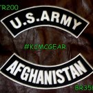 Military Patch Set U.S. Army Afghanistan Embroidered Patches Sew on Patches for